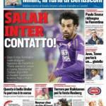 Corriere dello Sport – Salah Inter, contatto!