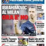 Corriere dello Sport – Ibrahimovic al Milan, ora è no