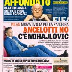 Gazzetta dello Sport – Ancelotti no, c'è Mihajlovic