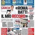 Corriere dello Sport – 'Roma batti il mio record'