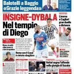 Corriere dello Sport – Insigne-Dybala nel regno di Diego