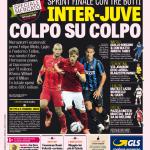 Gazzetta dello Sport – Inter-Juve colpo su colpo