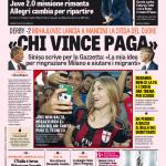 Gazzetta dello Sport – 'Chi vince paga'