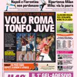 Gazzetta dello Sport – Volo Roma tonfo Juve