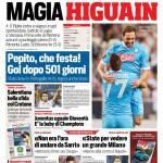Corriere dello Sport – Magia Higuain