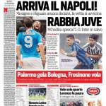 Corriere dello Sport – Arriva il Napoli!