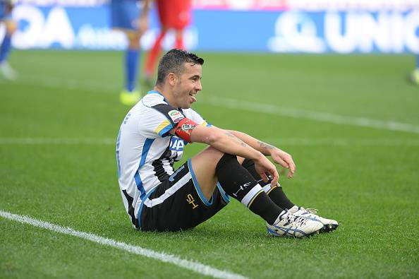 UDINE, ITALY - OCTOBER 25:  Antonio Di Natale  of Udinese Calcio reacts during the Serie A match between Udinese Calcio and Frosinone Calcio at Stadio Friuli on October 25, 2015 in Udine, Italy.  (Photo by Dino Panato/Getty Images)