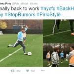 Inter, Pirlo risponde alle voci di mercato su Twitter