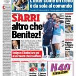 Corriere dello Sport – Sarri altro che Benitez