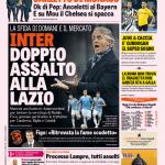 Gazzetta dello Sport – Inter, doppio assalto alla Lazio