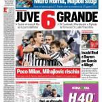 Corriere dello Sport – Juve 6 grande