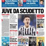 Corriere dello Sport – Juve da Scudetto