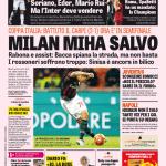 Gazzetta dello Sport – Milan Miha salvo