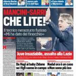 Corriere dello Sport – Mancini-Sarri, che lite