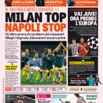 Gazzetta dello Sport – Milan top, Napoli stop