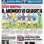 Corriere dello Sport – Juve-Napoli, il Mondo vi guarda