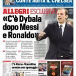 Corriere dello Sport – Allegri esclusivo 'C'è Dybala dietro Messi e Ronaldo'