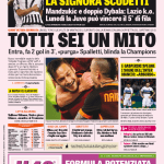 Gazzetta dello Sport – Totti sei un Mito
