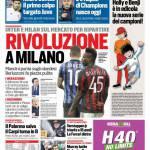 Corriere dello Sport – Rivoluzione a Milano