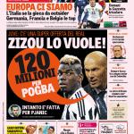 Gazzetta dello Sport – Zizou lo vuole