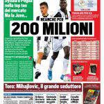 Tuttosport – Neanche per 200 milioni