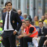 Milan, Montella: 'Vittoria merita. Bacca? Vedremo domani'