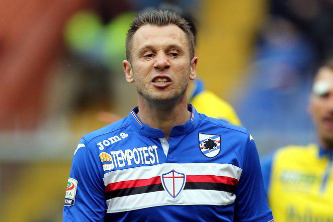Antonio Cassano vicino alla Virtus Entella?