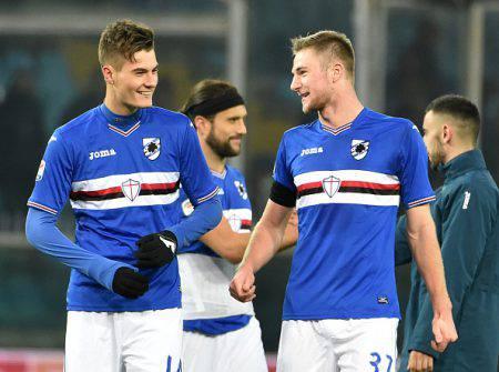 Sampdoria, l'Inter pressa alto su Skriniar