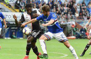 Bereszynski Kean in Sampdoria-Juventus