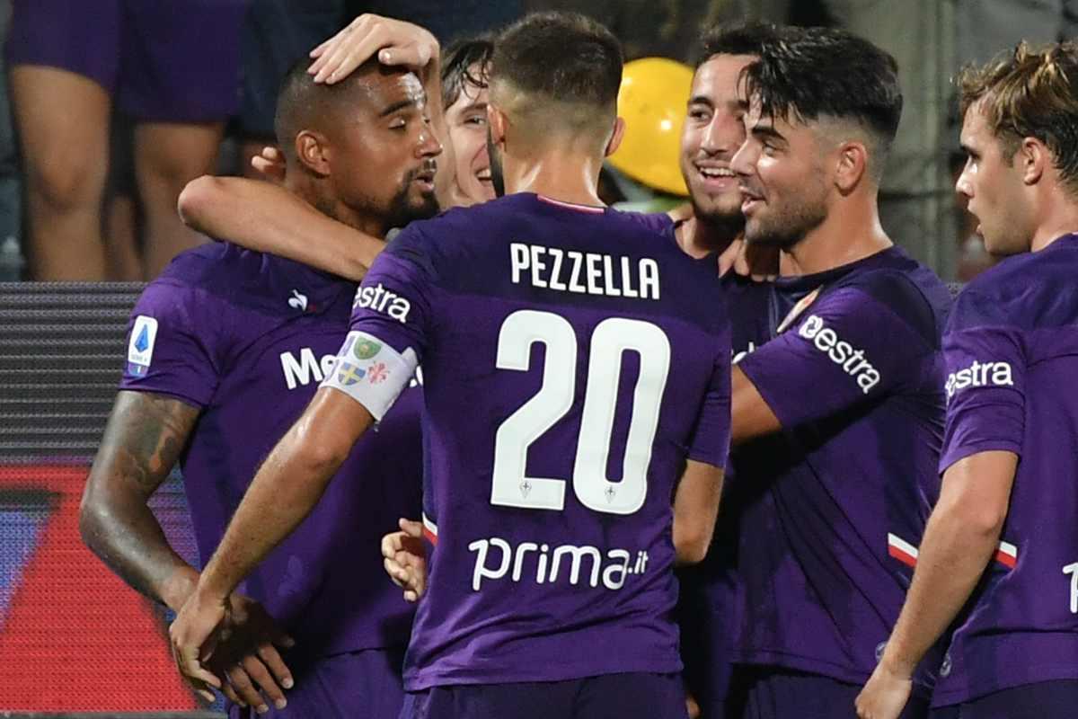 Fiorentina Esultanza Pezzella Boateng