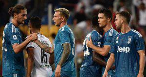 Juventus Esultanza Rabiot Bernardeschi Ronaldo Pjanic Matuidi