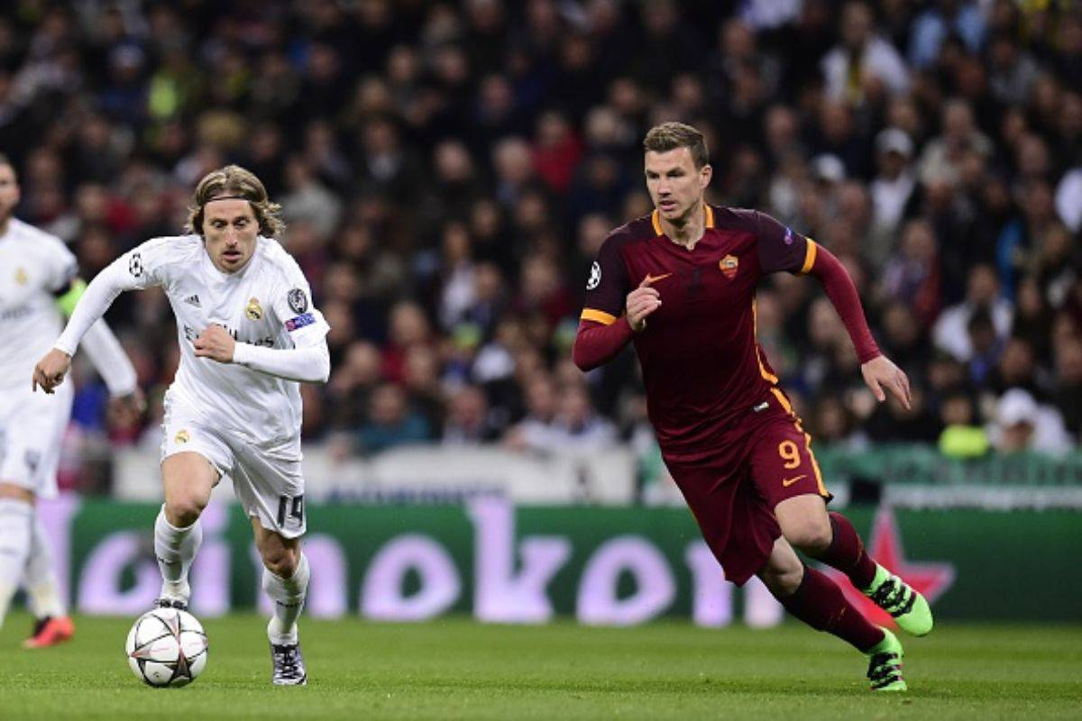 Luka Modric e Edin Dzeko (Getty Images)