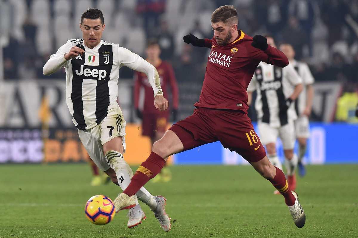 Santon Cristiano Ronaldo Roma Juventus