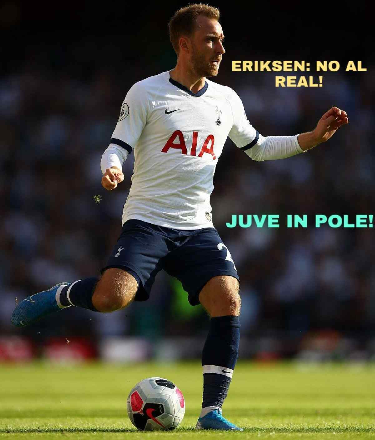 Eriksen: no al Real, Juve in pole