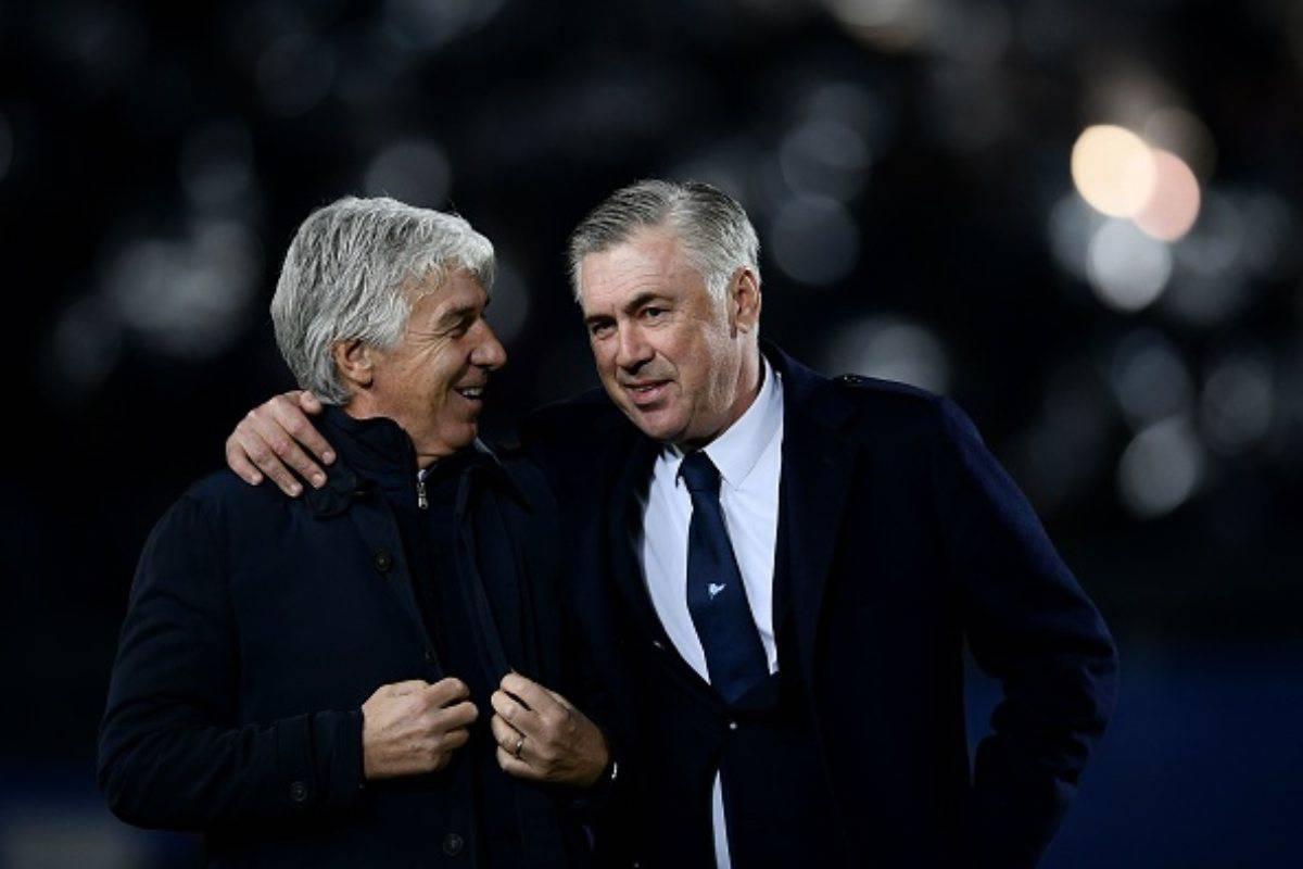 Gian Piero Gasperini con Carlo Ancelotti (Getty Images)