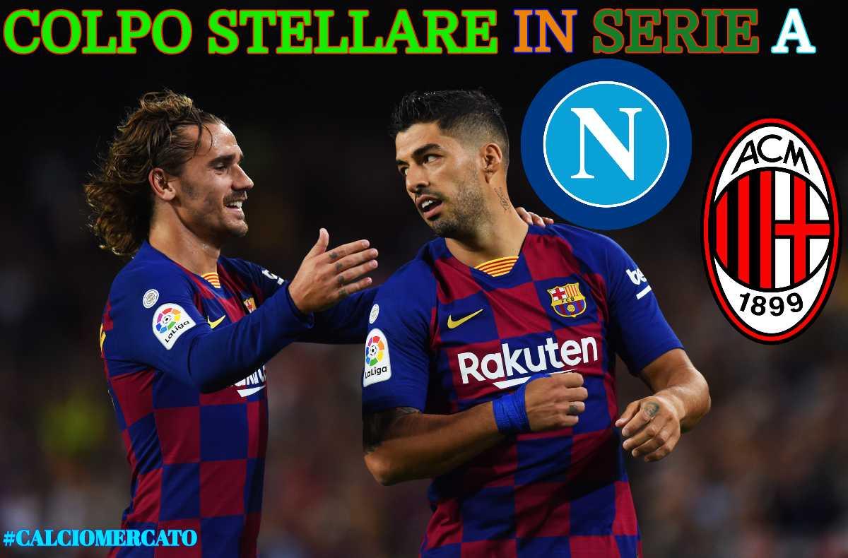 Calciomercato Milan Napoli Suarez