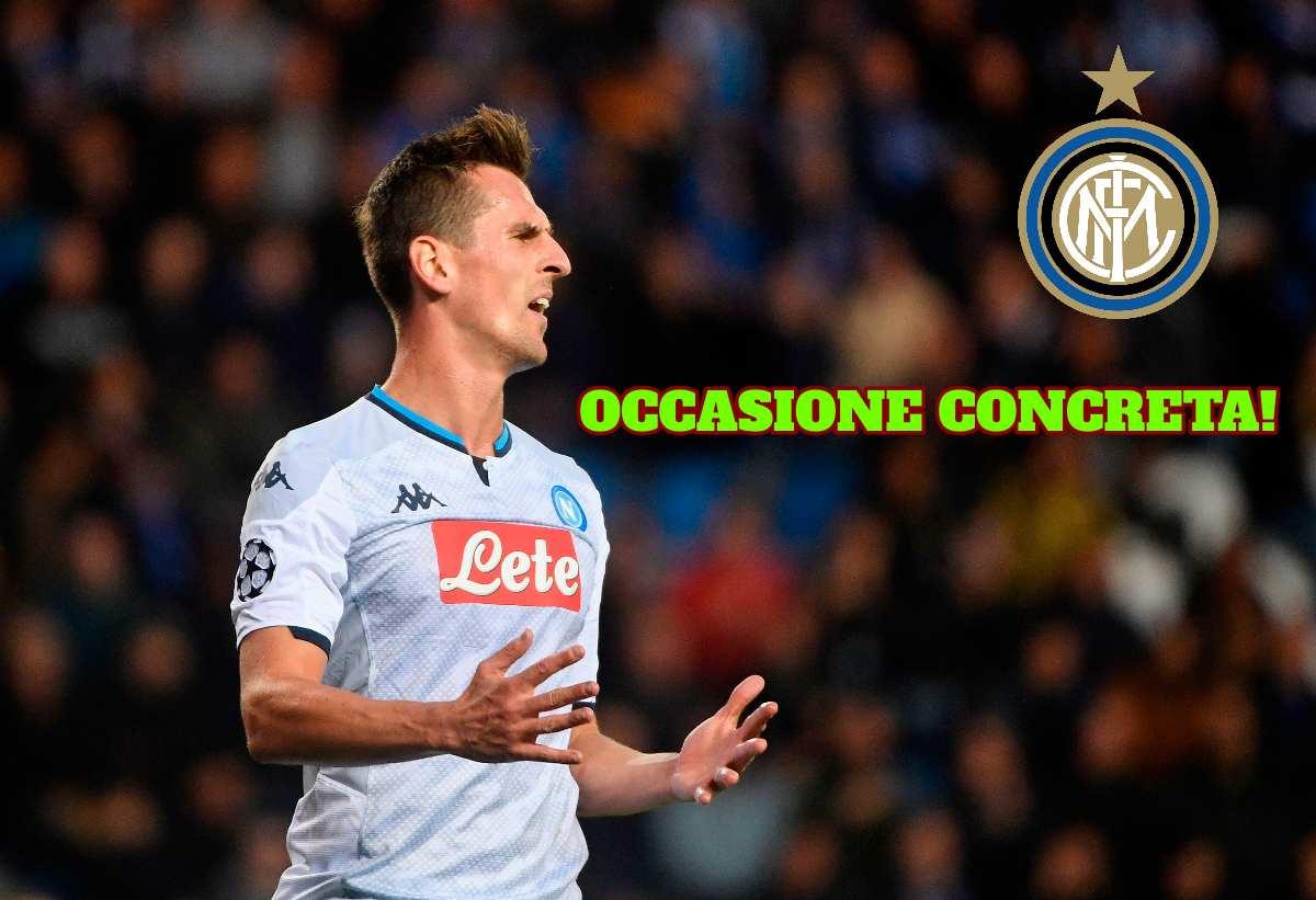 Inter, Milik occasione concreta