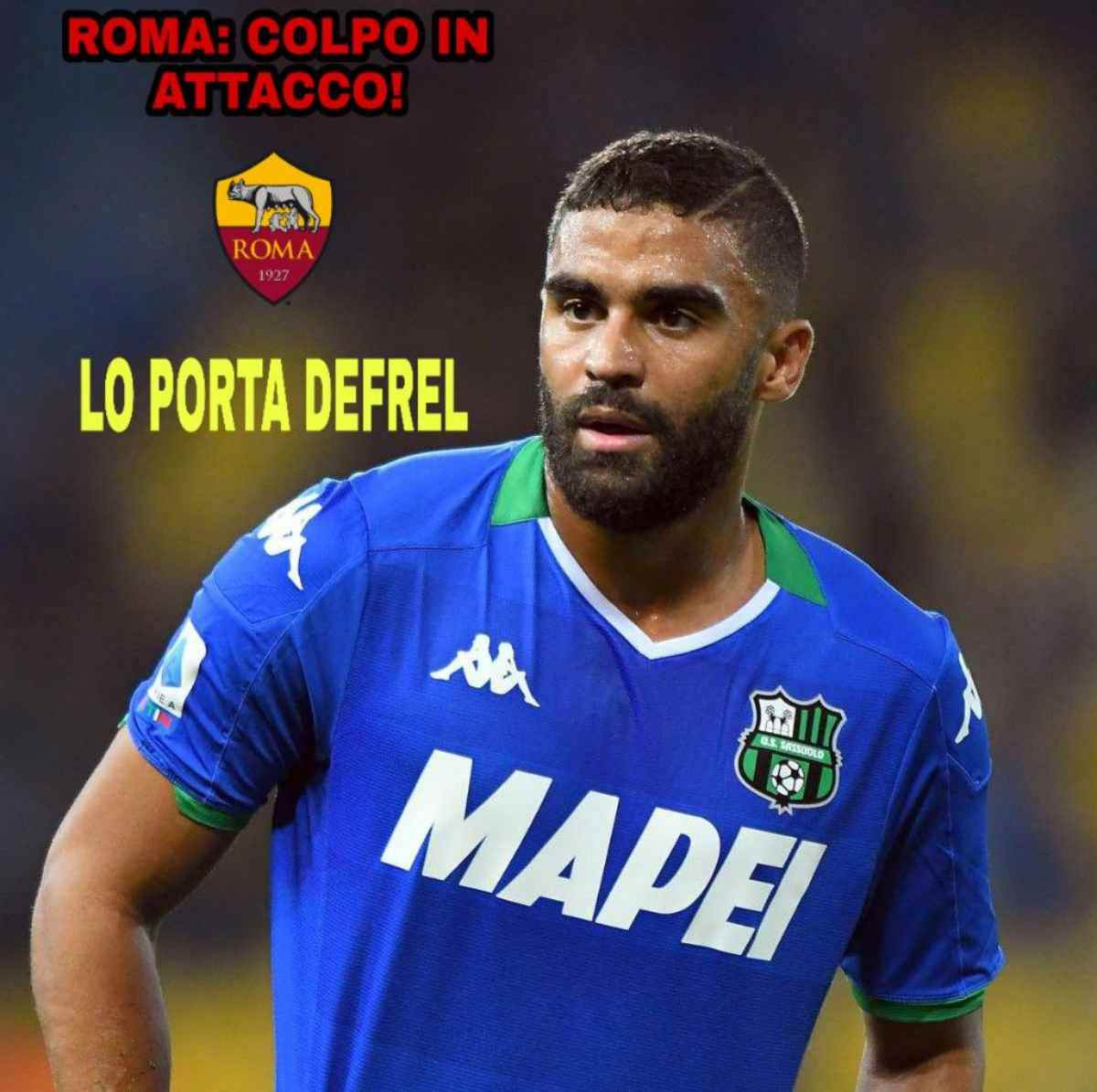 Roma: colpo in attacco, lo porta Defrel