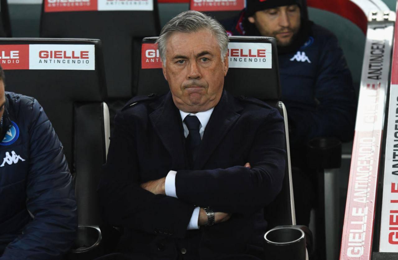 Calciomercato Napoli ufficiale esonerato Ancelotti comunicato De Laurentiis