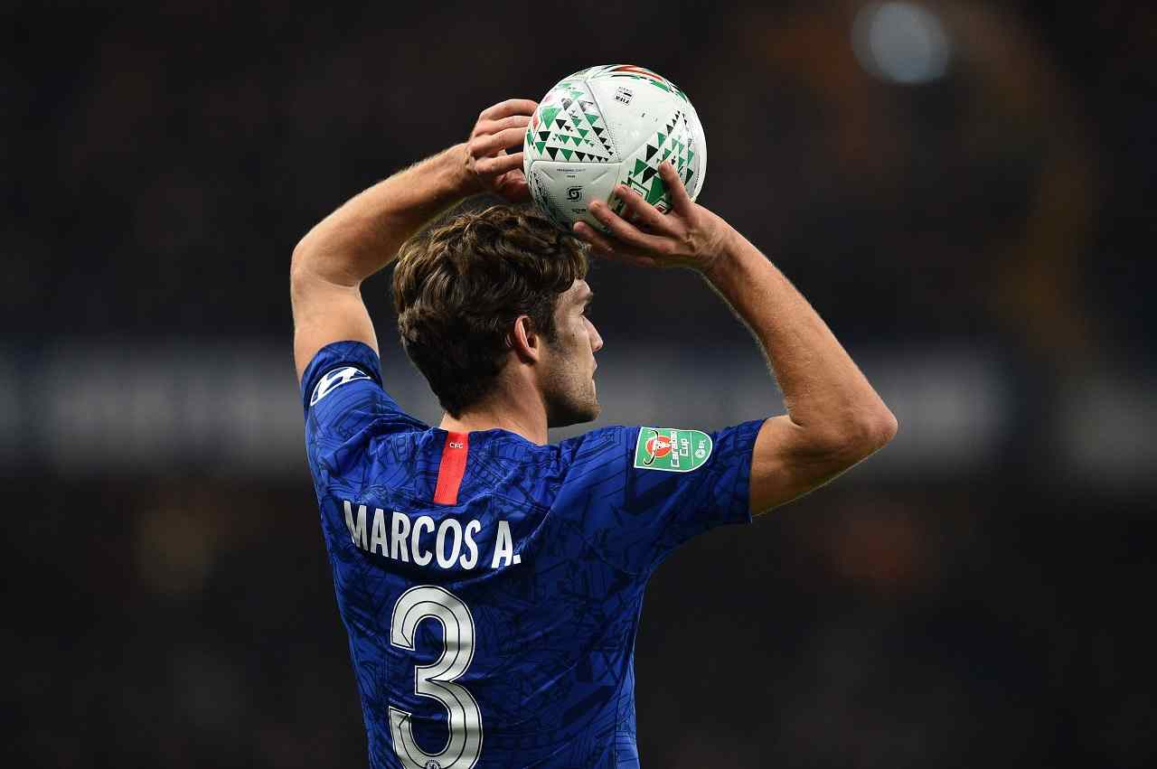 Calciomercato Juventus Marcos Alonso chiede cessione a gennaio al Chelsea occasione vice Alex Sandro per Sarri