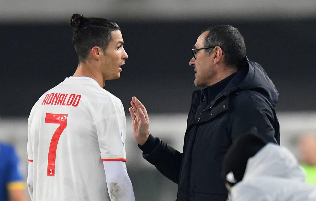 Juventus Sarri Ronaldo