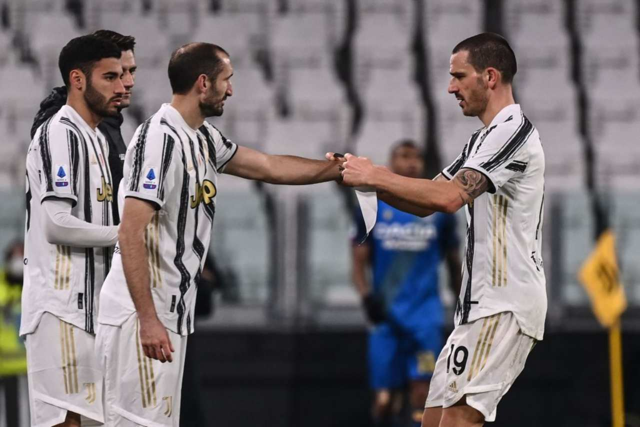 Juventus, emergenza in difesa   Da Demiral a Chiellini: le soluzioni di Pirlo