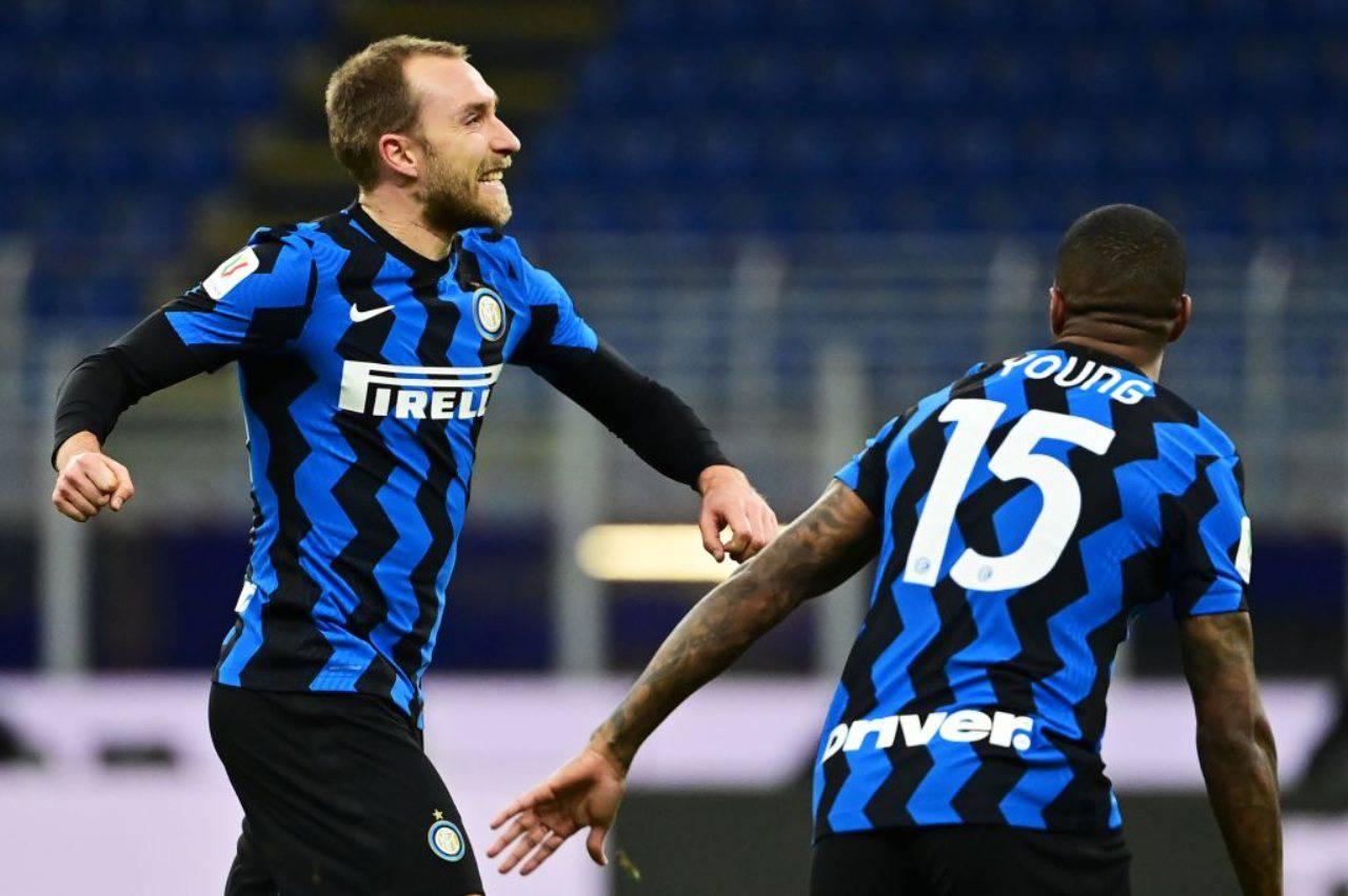 Inter, Eriksen potrebbe tornare trequartista