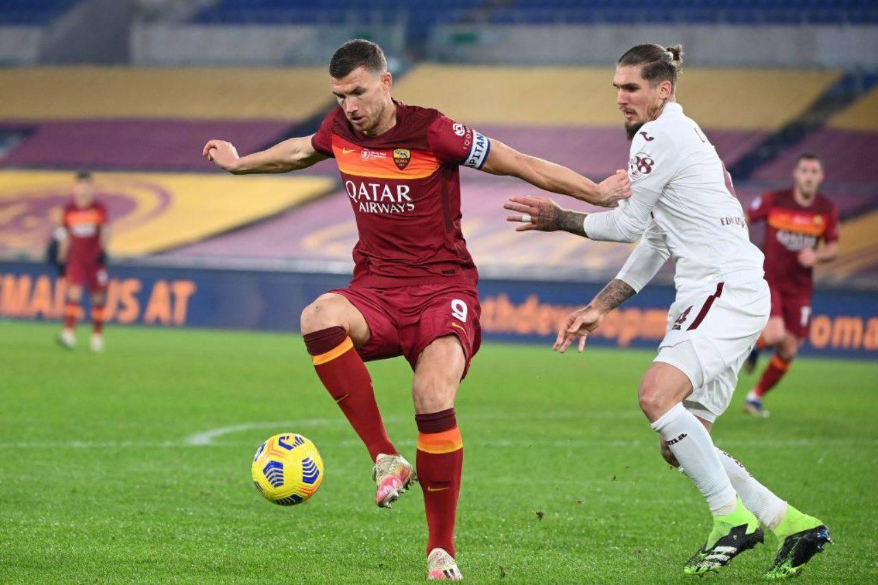 Roma Dzeko Calciomercato Inter