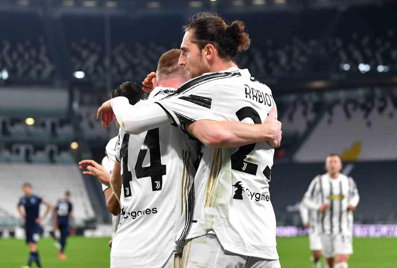 Rabiot e Kulusevski Juventus Lazio