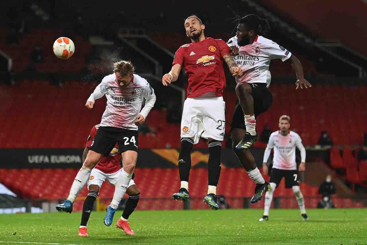 Milan Manchester United Pioli Kjaer conferenza