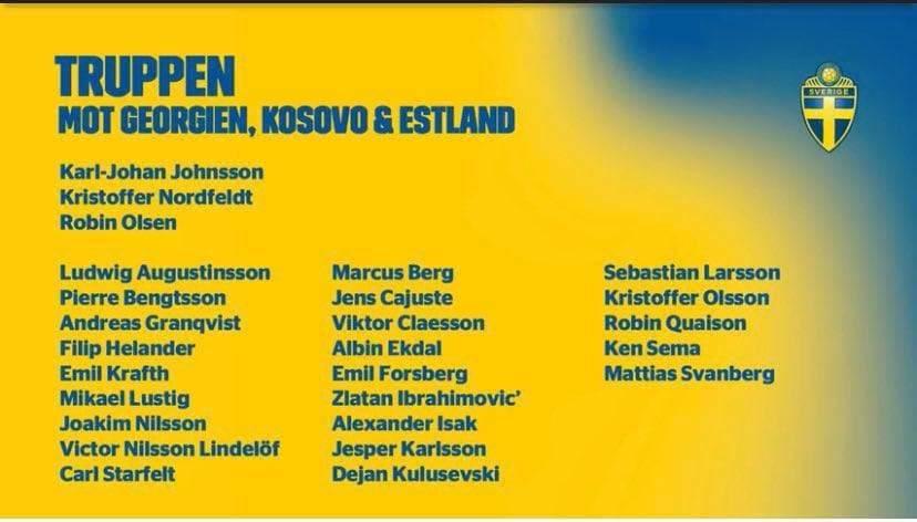 Ibrahimovic convocati Svezia