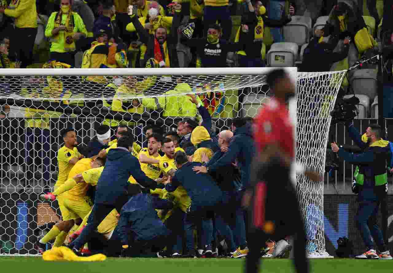 Europa League Villareal Manchester United Moreno Cavani De Gea tabellino