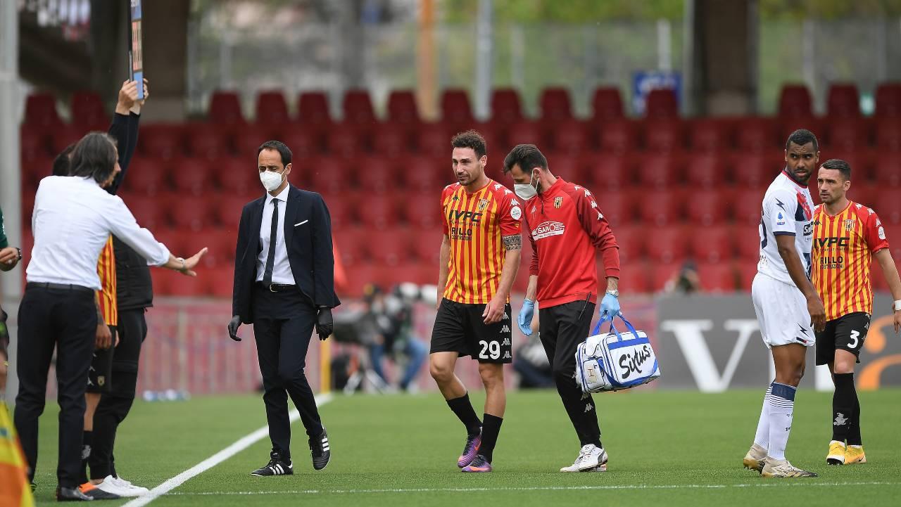 Benevento-Crotone, infortunio durissimo per Ionita | Tegola per Inzaghi