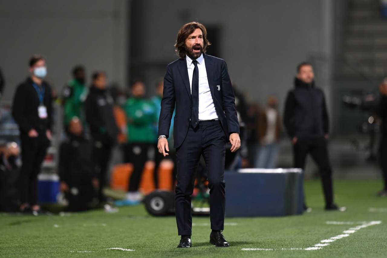 Coppa Italia Atalanta Juventus Pirlo Chiellini Bonucci conferenza